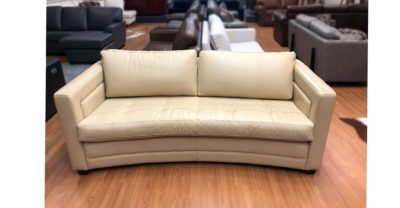 curved leather sofa clearance
