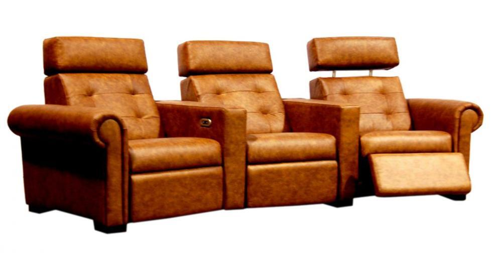 Brown Leather Theatre Seating