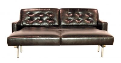 Oslo Opened Leather Sleeper Sofa
