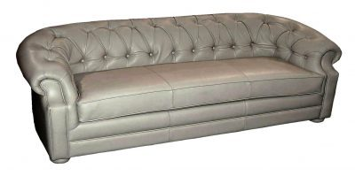 back and arm tufted leather sofa