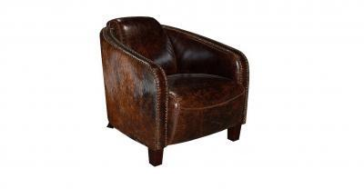 leather chair with hair on hide