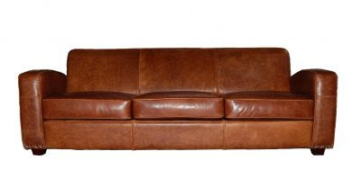 plain tight back leather sofa