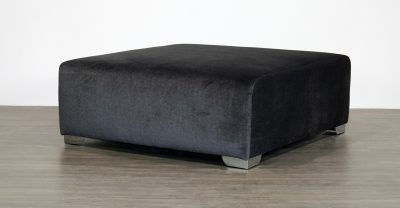 fabric ottoman with metal legs