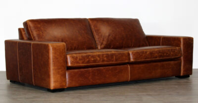 2 over 2 leather sofa