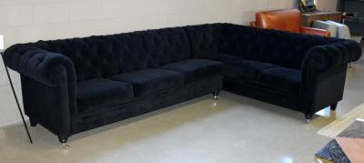 black velvet fabric sectional