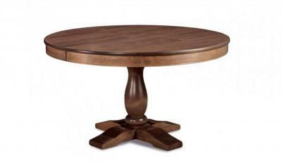 round wood dining table