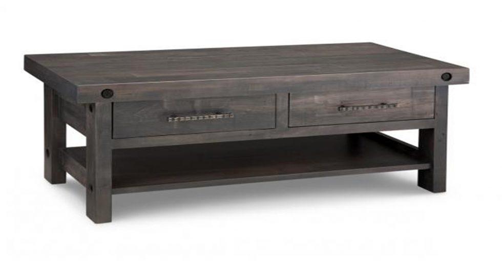2 drawer wood coffee table