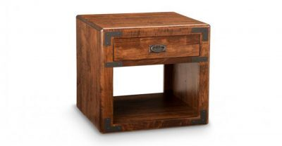 single drawer wood end table