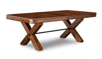 wood dining table with x base