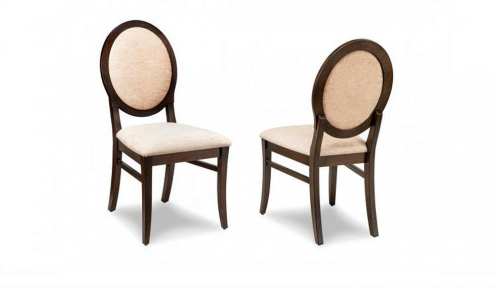 padded back wood dining chair