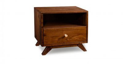 one drawer wood nightstand