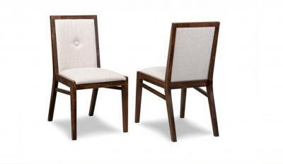 padded back and seat wood dining chair