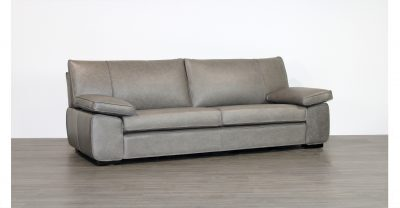 clearance grey leather sofa