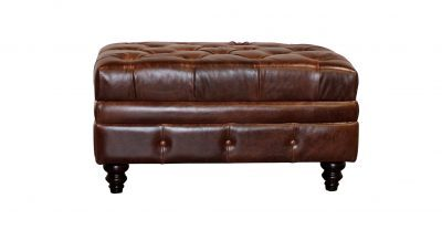 tufted top leather ottoman