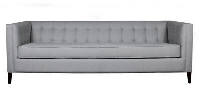 sofa with box tufted back and arms