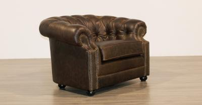 tufted leather chair